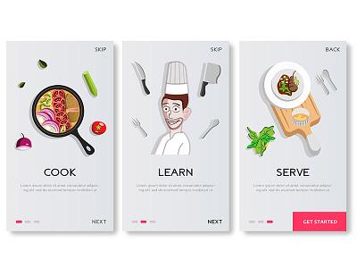 Recipe App Onboarding Screen mobile app cards onboarding ios onboard ux ui app recipe food
