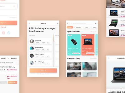 E-commerce Case Study (Oranjimart) flow orange mobile design product ux ui android interface card app