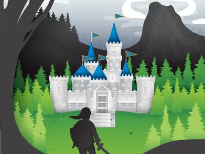 Retro Zelda Inspired Poster