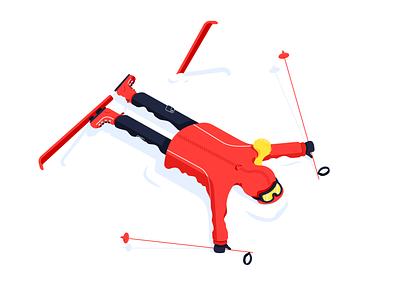 Snow Day goggles illustration ski snow