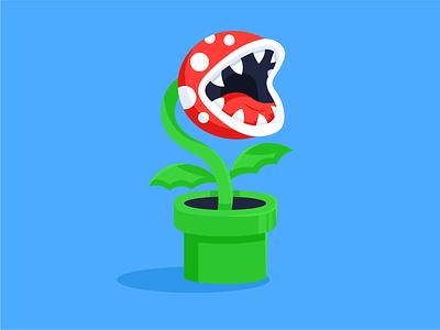 Piranha Plant illustration video game luigi mario piranha