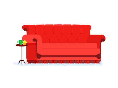 Central Perk illustration tv muffin coffee friends couch