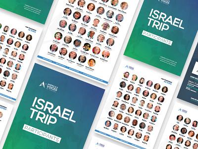 Americas Voices In Israel Trip Participants Handout design flat clean handout israel tour and travel