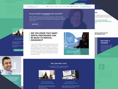 Dental Medical Billing Website lecture speaker practice throwback dental website clean