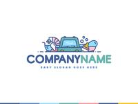 Baby Equipment for Rent Logo Illustration For Sell