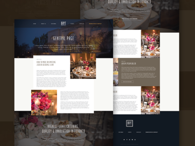 Catering Website Design [Old Project]