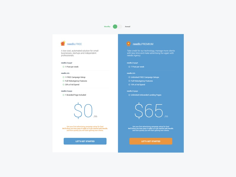 Pricing Section Website Redesign progress website concept colorful clean flat