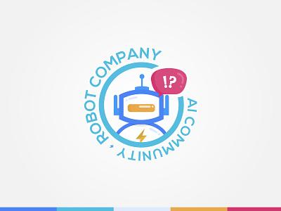 Robot Logo for Ai Community Platform logo illustration concept colorful community logo cute socialmedia ai platform robot