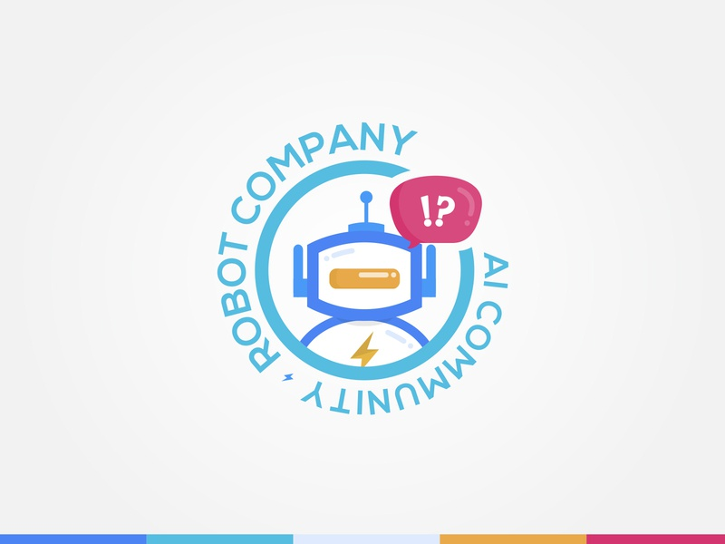 Robot Logo for Ai Community Platform logo illustration concept colorful community logo cute socialmedia ai platform robot