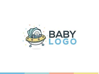 Space Baby Logo Concept 99designs logo simple concept flat clean spaceship baby