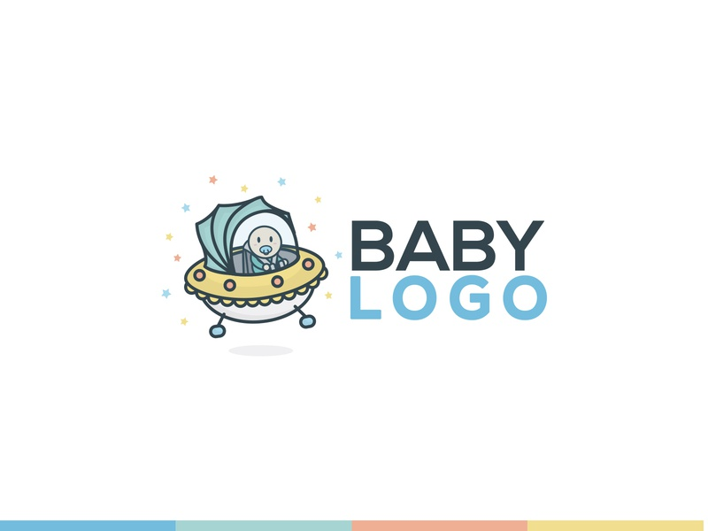 Space Baby Logo Concept 99designs logo simple concept flat clean spaceship baby