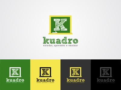 Kuadro Logo Design Contest Won on 99Designs branding website simple flat concept learning teach school logo platform online school