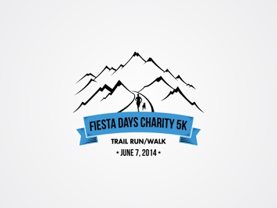 Fiesta Days Charity 5K Trail Run Walk   June 7  2014 illustration logo simple clean flat monogram charity trail contests 99design