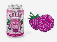 Celis Raspberry Illo