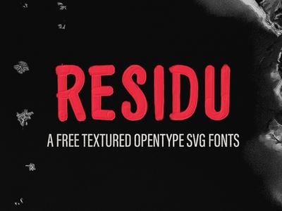 Residu SVG - Free Font vintage fonts svg font painted svg hand drawn display font type typeface freebie free font free