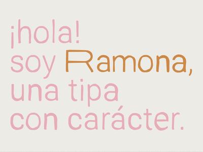 Ramona - Free Display Font logo branding hand drawn free typeface sans serif display font type typeface freebie free font free