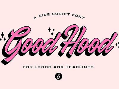 GoodHood - Free Font hand drawn script retro vintage display font type typeface freebie free font free