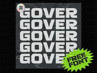 Gover - Free Display Font ui branding logo sans serif display font type typeface freebie free font free
