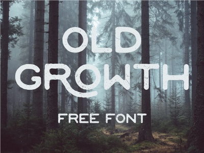 Old Growth - Free Font hand drawn rough font free typeface free font handdrawn texture grunge fonts vintage typeface freebie free