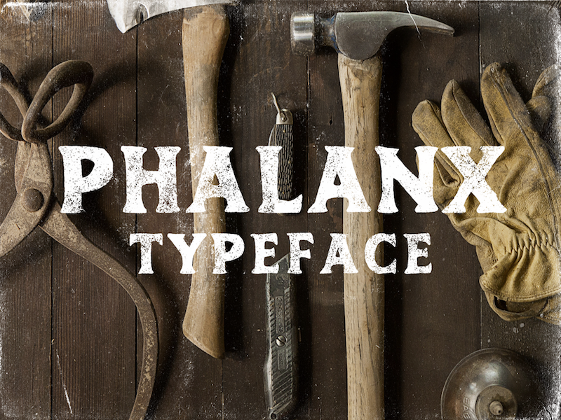Phalanx - Free Vintage Font hand drawn rough font free typeface free font handdrawn texture grunge fonts vintage typeface freebie free