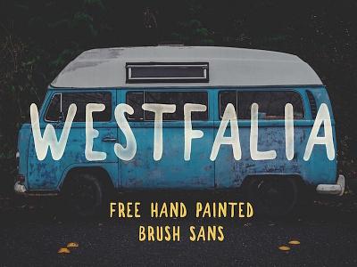 Westfalia - Free Hand Painted Brush Font hand drawn rough font free typeface free font handdrawn texture grunge fonts vintage typeface freebie free