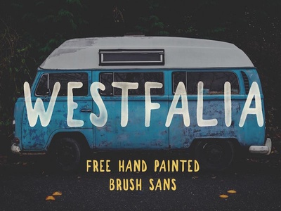 Westfalia - Free Hand Painted Brush Font