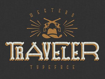 Traveler - Free Typeface hand drawn western free typeface free font handdrawn texture grunge fonts vintage typeface freebie free