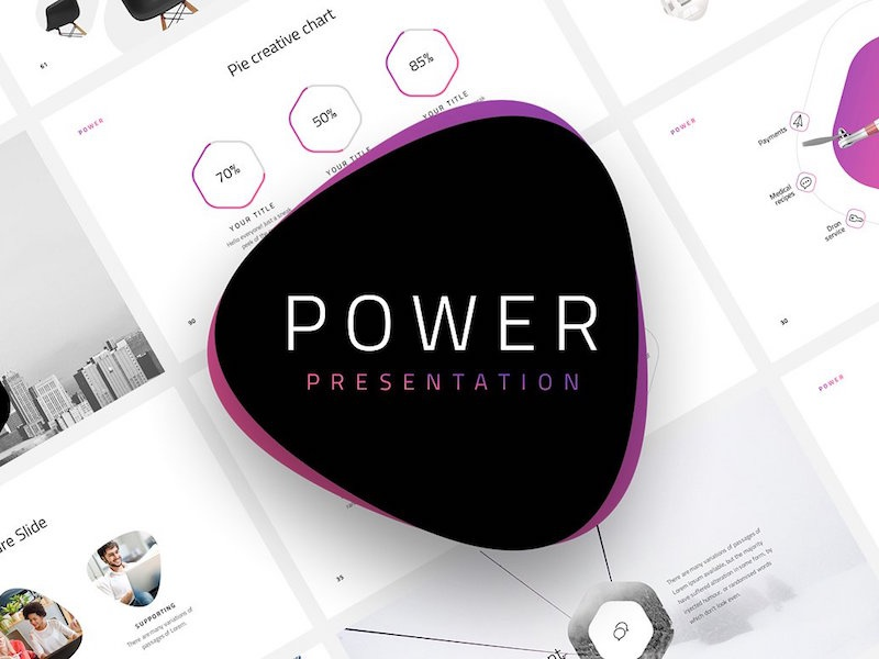 Power Free Minimal Powerpoint Template By Pixel Surplus Dribbble