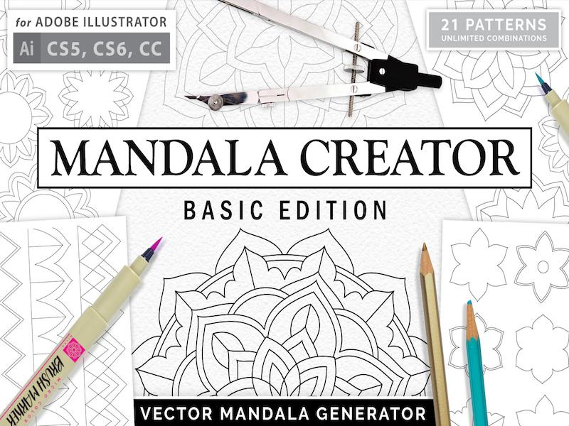 Free Mandala Creator - Basic Edition by Pixel Surplus on Dribbble