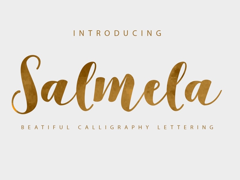 Salmela - Free Calligraphy Script Font lettering feminine hand lettering hand drawn script font script typeface type freebie free font free