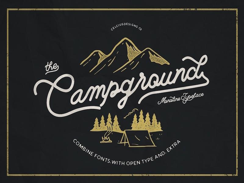 Campground – Free Monoline Script