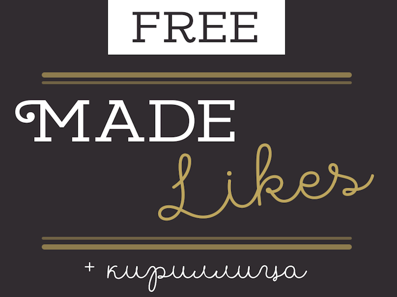 MADE Likes - Free Font Duo by Pixel Surplus on Dribbble
