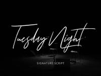 Tuesday Night - Free Signature Font