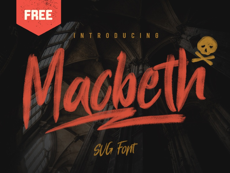Macbeth - Free SVG Font psd otf commercial use vintage hand drawn typeface type opentype svg freebie free font free