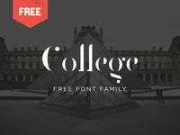 College - Free Stencil Font