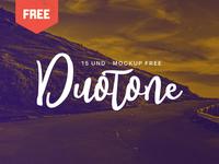 Free Duotone PSD Mockup