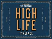 High Life - Free Art Deco Font