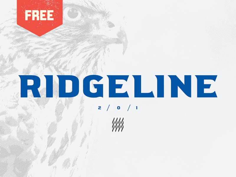 Ridgeline 201 - Free Display Font logo bold titles headlines athletics sports display typeface type freebie free font free