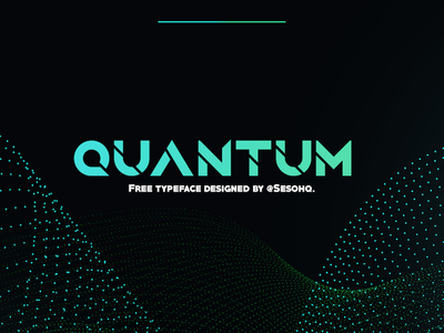 Quantum - Free Font bold headline display futuristic gaming future typeface type free font free