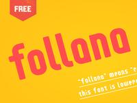 Follana - Free Modern Font