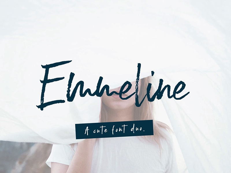 EMMELINE - FREE BRUSH FONT decorative font textured signature hand drawn freebie free script script font script free