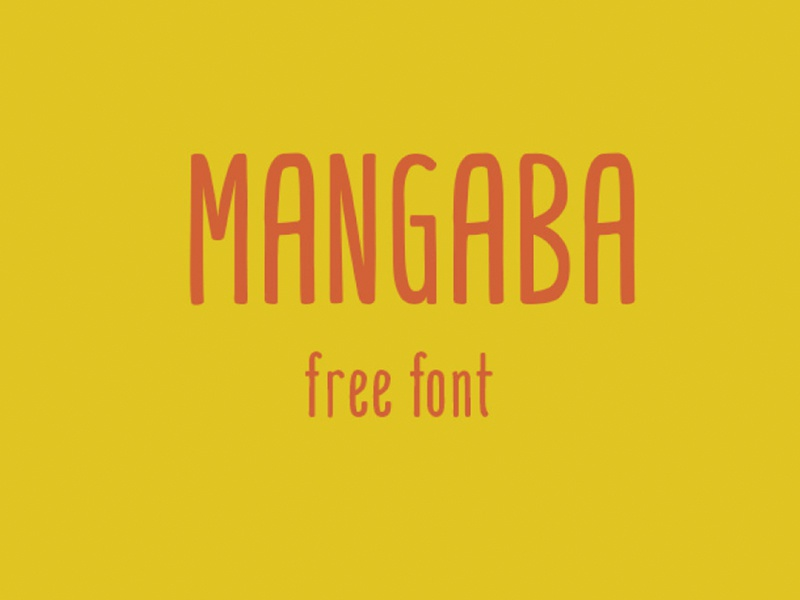 MANGABA - FREE HAND DRAWN FONT display font decorative hand written hand drawn typeface type freebie free font free