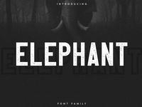 ELEPHANT OUTLINE - FREE FONT