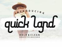 QUICK LAND - FREE FONT