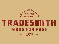 TRADESMITH - FREE VINTAGE FONT