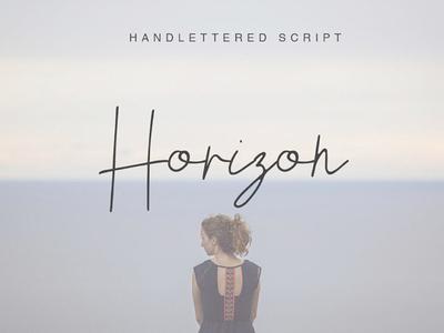HORIZON - FREE HANDLETTERED SCRIPT