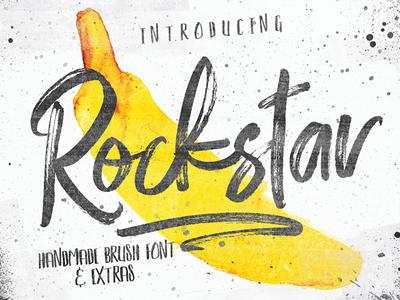 ROCKSTAR - FREE FONT DUO & PHOTOSHOP BRUSH SET