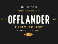 OFFLANDER ROUGH - FREE VINTAGE ALL CAPS FONT