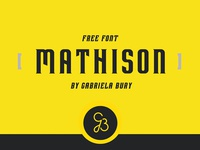 MATHISON - FREE DISPLAY FONT