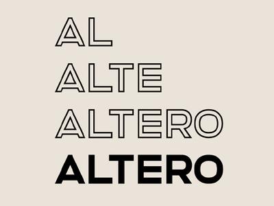 ALTERO - FREE CLEAN SOLID & OUTLINE SANS SERIF